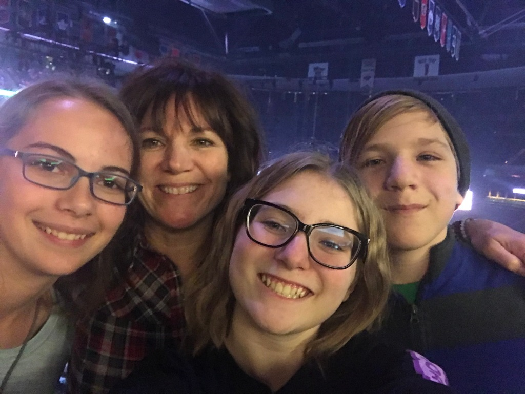 Family at Fall Out Boy Concert Xcel Energy Center