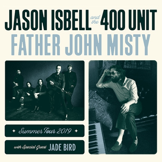 image of father john misty, Jason isbell, and jade bird summer tour for blog about fjm and Jason isbell and the 400 unit