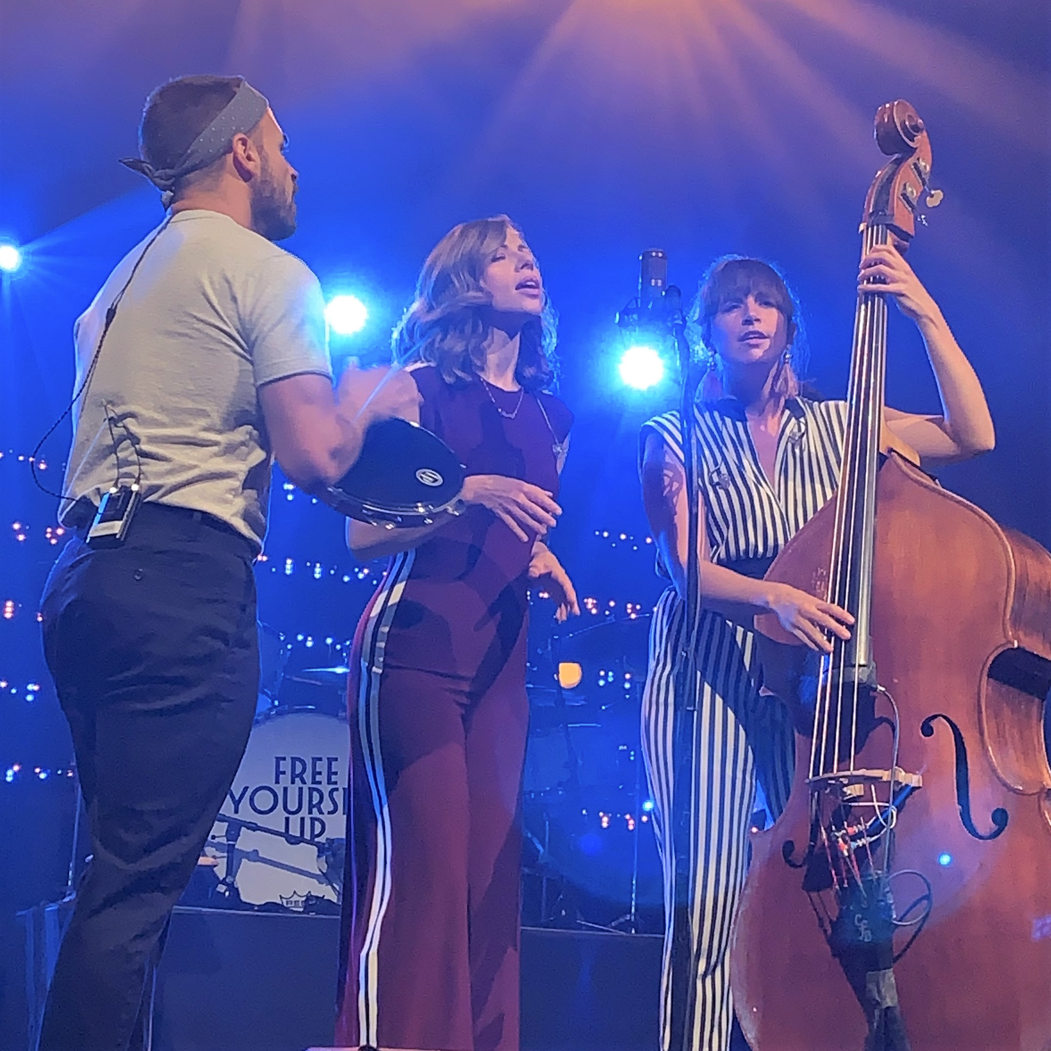 Photo of Rachael Price, Mike Calabrese, and Bridget Kearney of Lake Street Dive, photo by Beth Nault-Warner