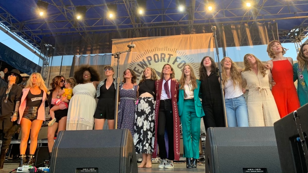 Highwomen and friends at Newport Folk Festival 2019, photo by Laura Fedele