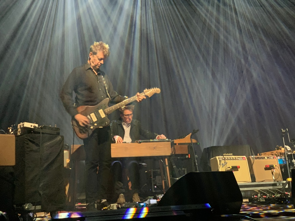 Wilco's guitarist, Nels Cline with Mikael Jorgensen on keyboards at St. Paul's Palace Theater.